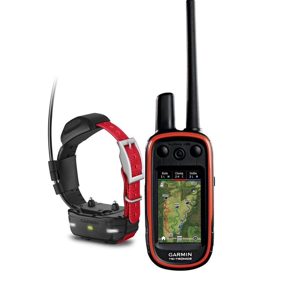 Garmin Alpha 100 + TT15 (mini) + EU TOPO VHF kutya GPS nyomkövető és elektromos nyakörv